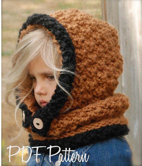 Knitting PATTERNThe Fayrah Hood 12/18 months by Thevelvetacorn ...