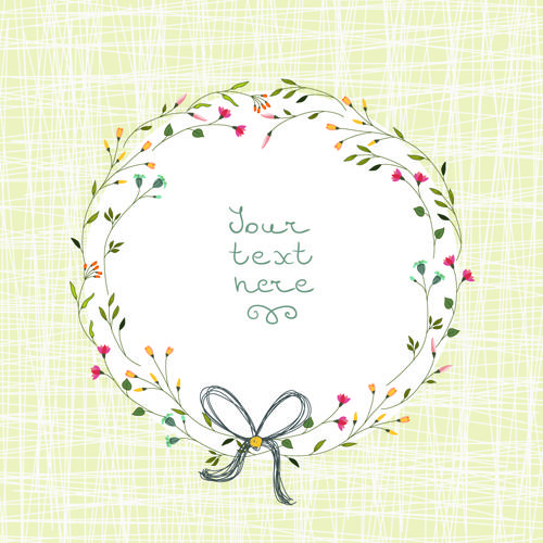 Beautiful flower frames with vintage background 01 - Vector ...