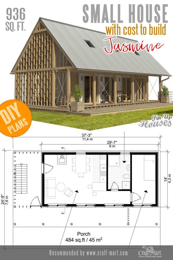 Awesome small and tiny home plans for low diy budget with