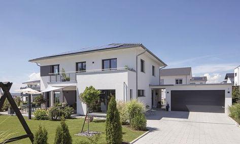 Hausdetailansicht Weber Haus Walmdach Stadthaus