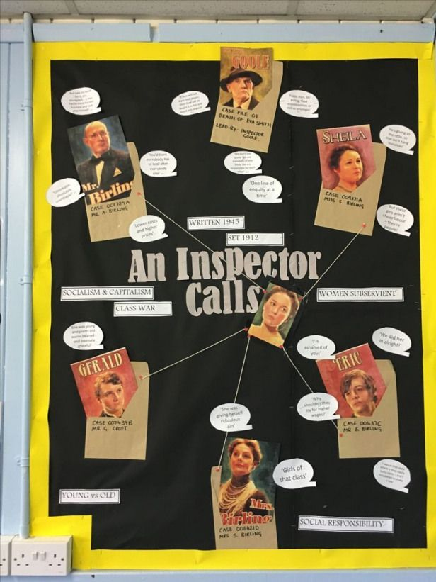An Inspector Calls. Secondary English Classroom Display Ideas    || Ideas activities and revision r