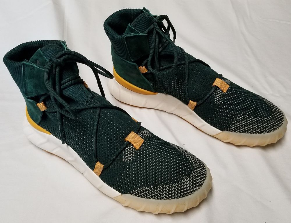 sale retailer 0d489 a6c9e Adidas Tubular X 2.0 PrimeKnit Sneakers PK Shoes Men 9 Green ...