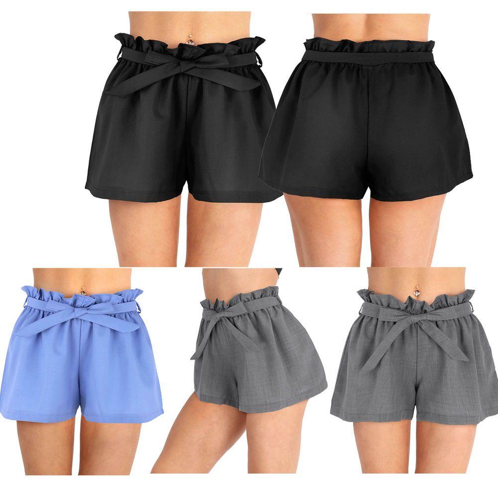 ebc00136a8 Women's Hot Pants Summer Casual Loose Shorts Bow Beach High Waist ...
