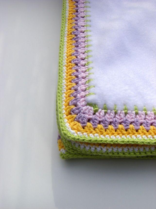 Crochet Edging For Baby Blankets Crochet Edge Fleece