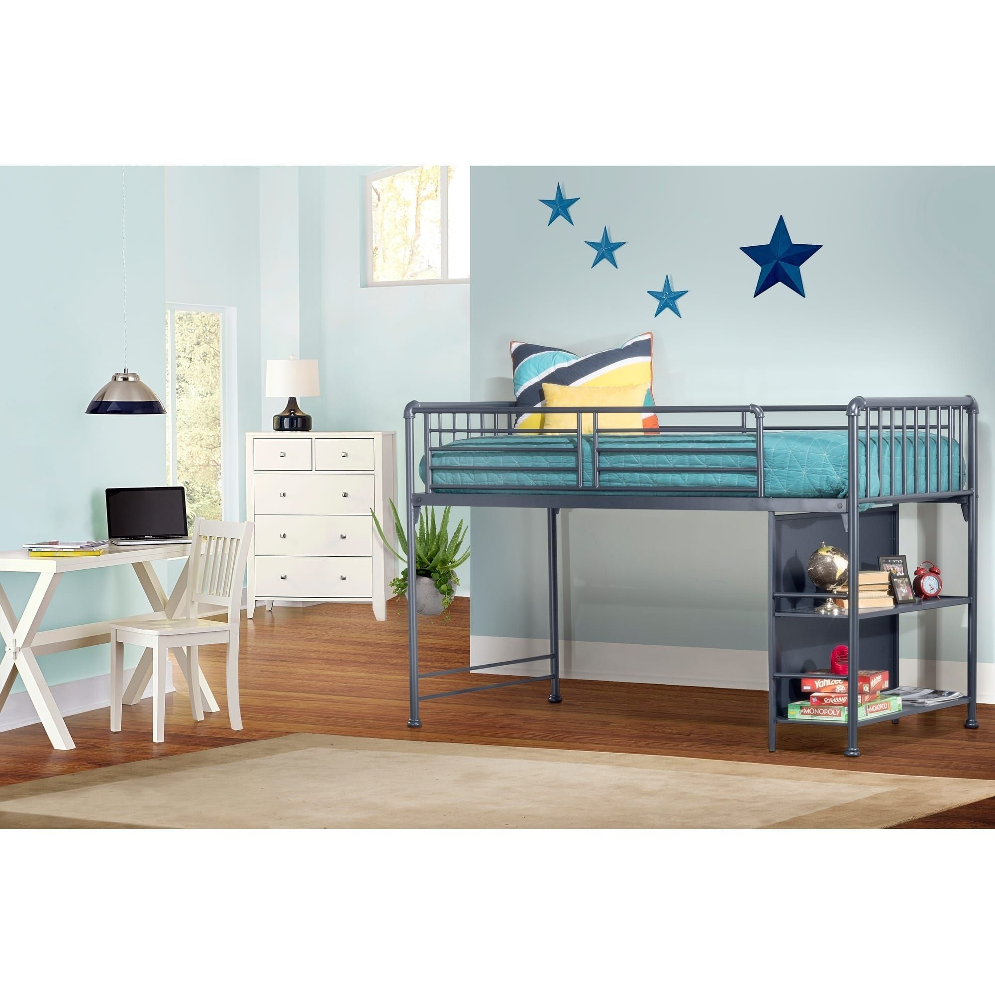 hillsdale furniture brandi junior loft navy navy loft bed