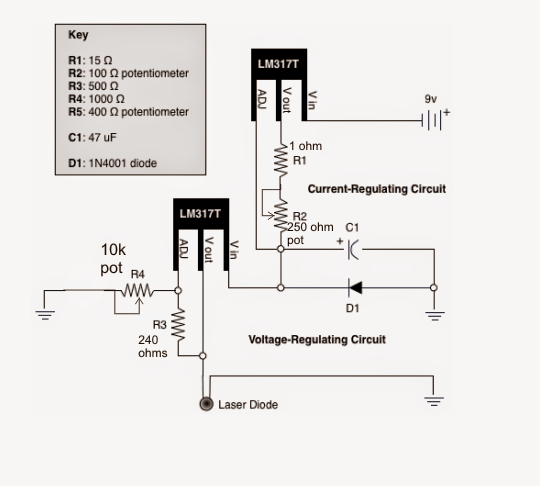 The Post Explains A Simple Laser Pointer Power Supply Circuit Which - Wiring Diagram