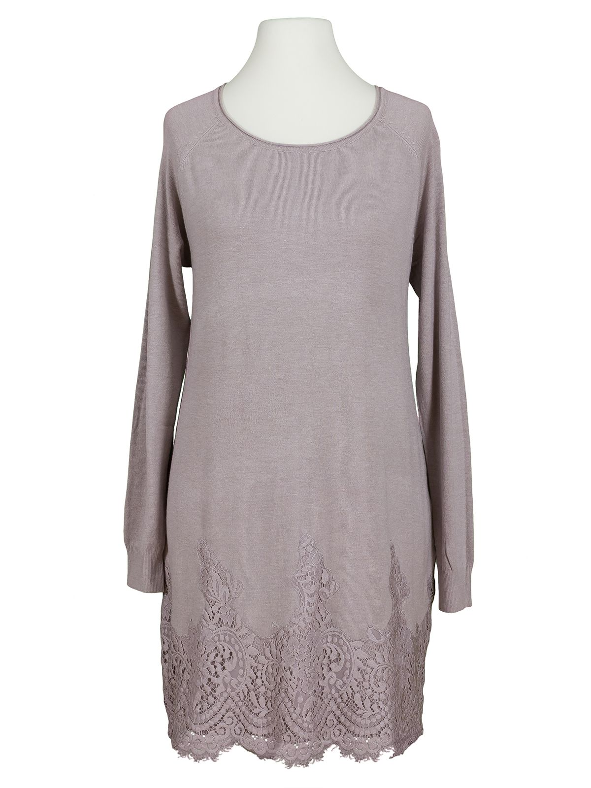 strickkleid mit spitze, taupe bei meinkleidchen kaufen
