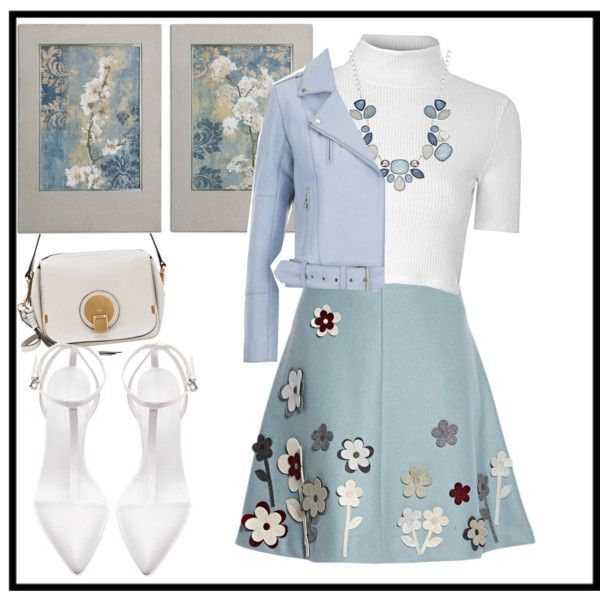 Untitled #150 by jovana-p-com on Polyvore featuring Glamorous, Gestuz, RED Valentino, Zara, Chloé, Style & Co., women's clothing, women's fashion, women and female