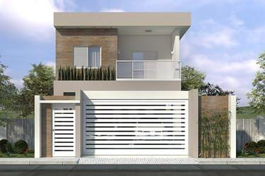 Planta de sobrado com 3 quartos fachada pinterest for Modelo de casa townhouse