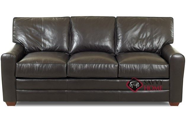 Halifax Queen Leather Sofa Bed by Savvy | Savvy Furniture ...