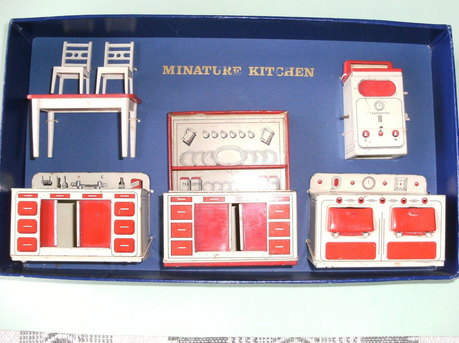 Brimtoy Dolls House Tinplate Kitchen Items And Furniture | EBay