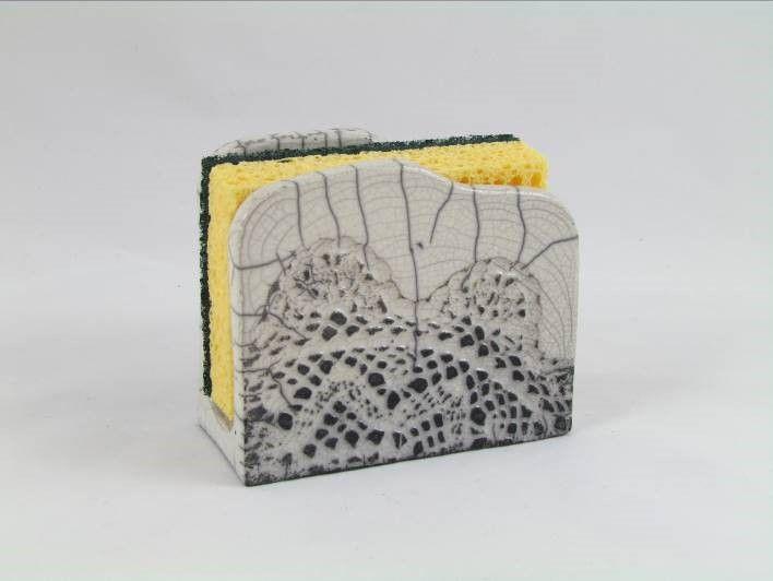 porte ponge raku original souris c ramique l phant gr s artisanal fait main jean pierre et. Black Bedroom Furniture Sets. Home Design Ideas