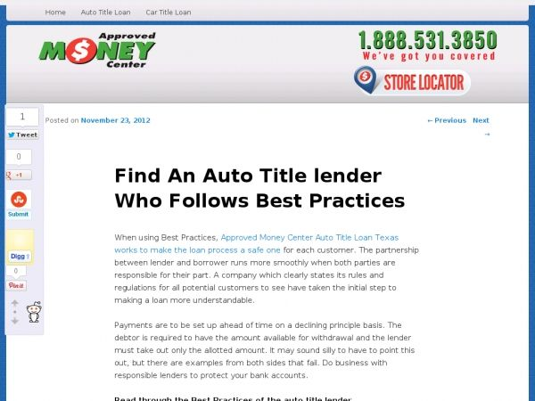 When Using Best Practices Approved Money Center Auto Title Loan Texas Works To Make The Loan Process A Safe One For Each C Car Title Payday Loans Loan Lenders