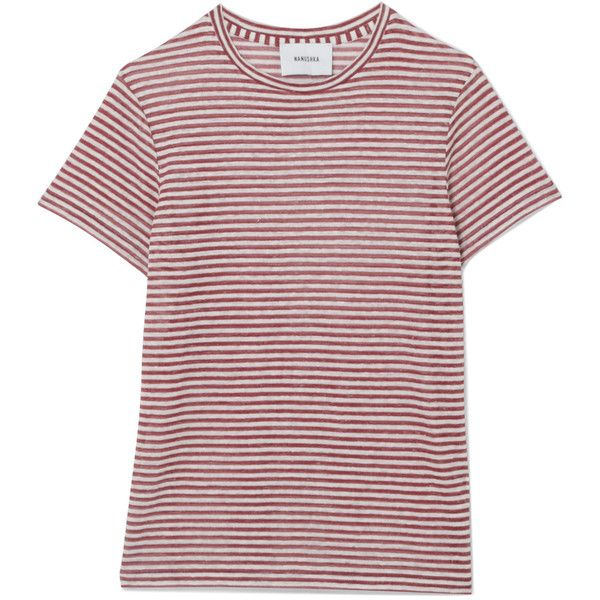 Under 50 Dollars Guy Striped Linen-blend Jersey T-shirt - Red Nanushka Cost Sale Online Clearance Official N0gp09dw