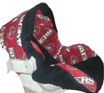 Infant Car Seat Cover San Francisco 49ers. $67.99, via Etsy. | baby