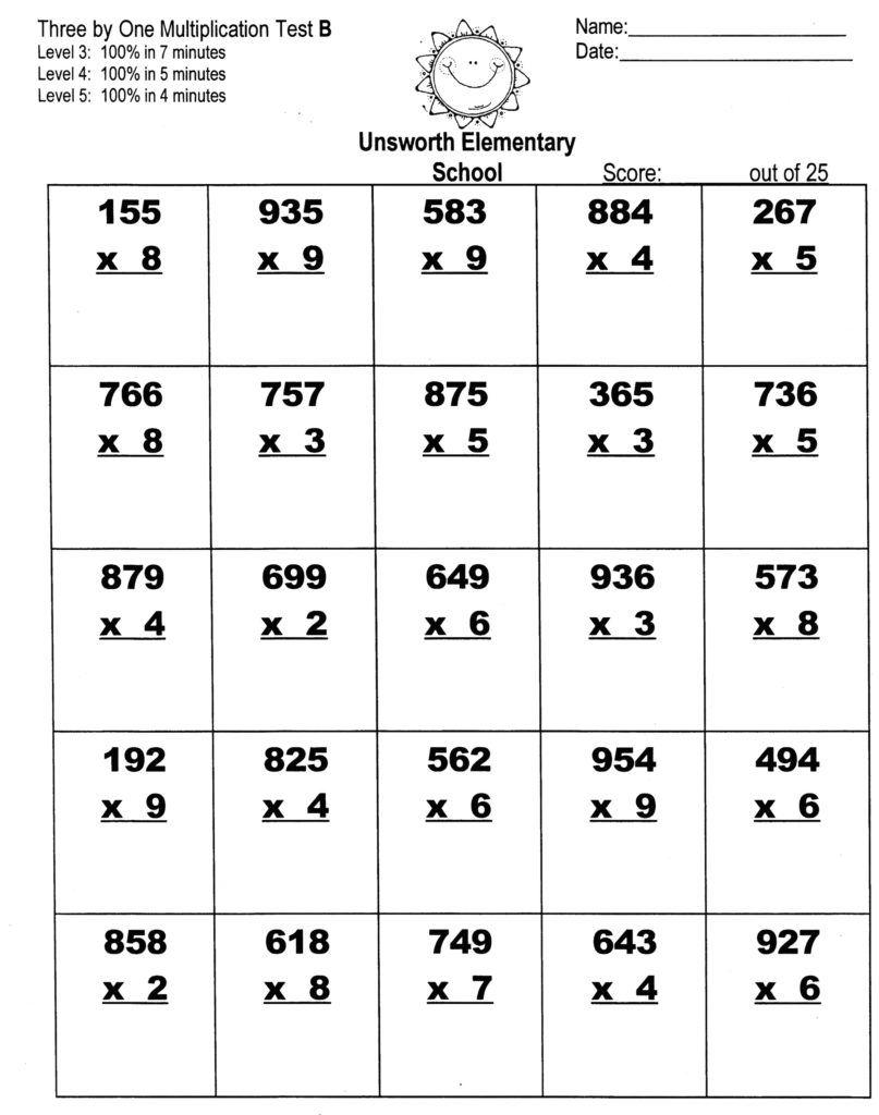 Multiplication Worksheets Multiplication worksheets