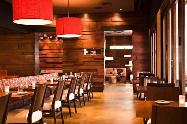 restaurant room divider ideas Vintage Restaurant Design Red