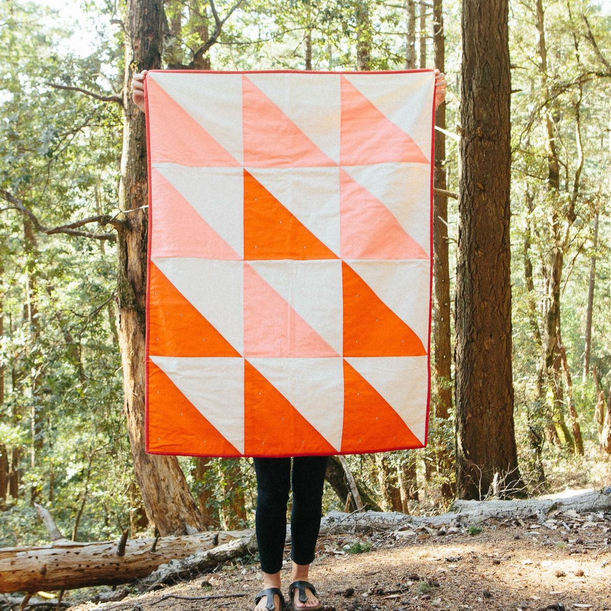 """Sunset quilt, - Crib size: 36"""" x 48""""  by Vacilando Quilting"""
