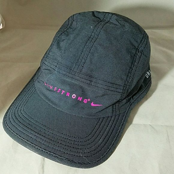 NIKE Livestrong Gray & Hot Pink Baseball Cap Hat Brand: Nike Item: Gray & Black tiny striped cap with LIVESTRONG & Adjustable strap in Hot Pink Color: Grey, Black & Hot Pink Size: OS Condition: Excellent Pre-loved condition  Please check my other listings for bundles to pay one shipping charge as I have a lot of small things listed. 10% off 4+ bundles YOU make. No lowballs. Nike Accessories Hats