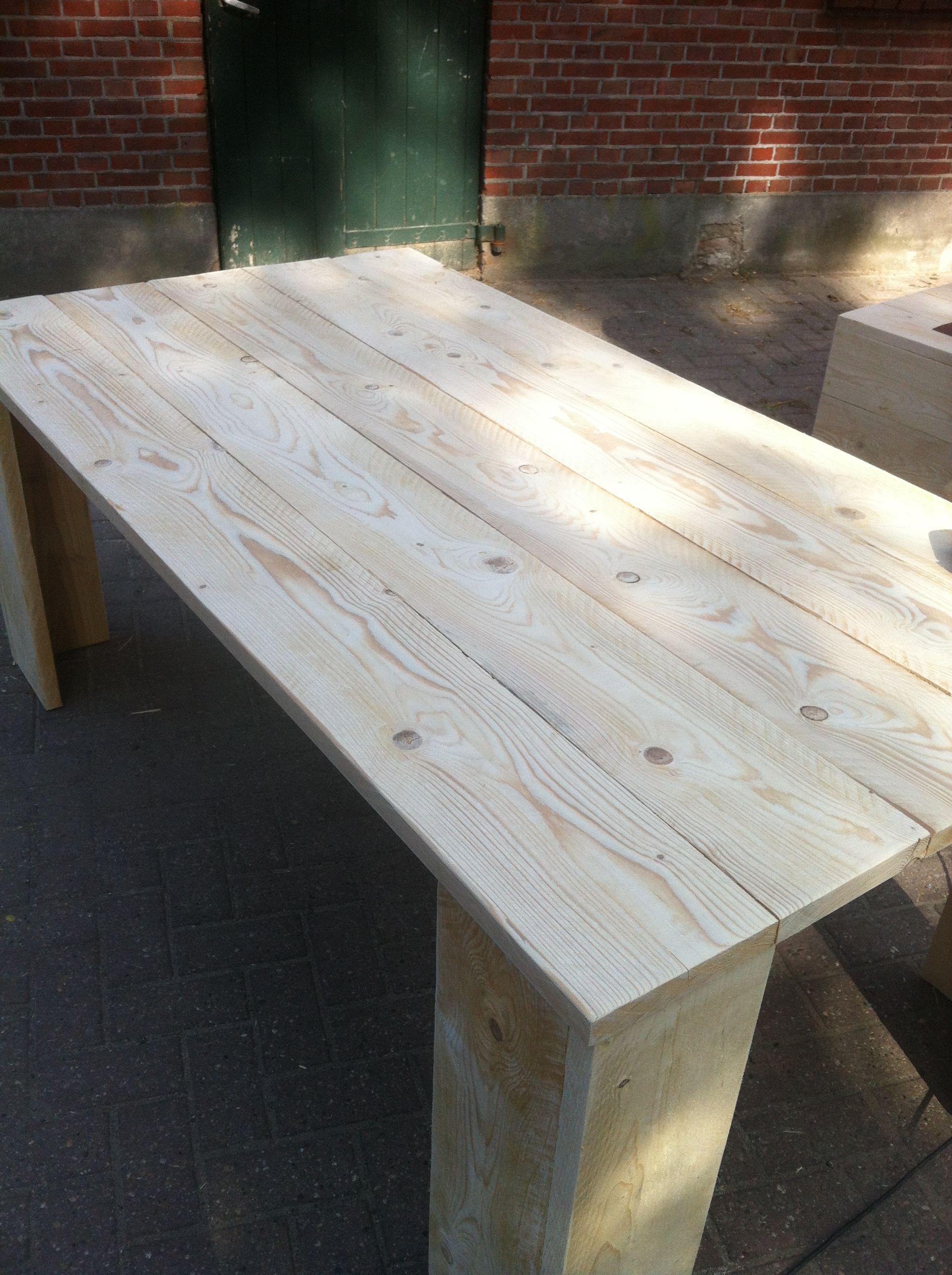 Mooie Steigerhouten Tafel.Steigerhouten Tafel Basic Sevilla Mooie Grote Robuuste