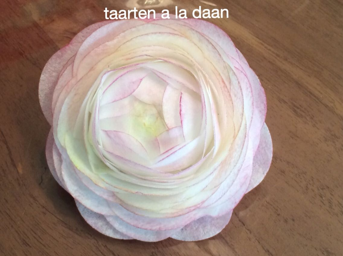 Ranonkel Van Ouwel Flowers From Paper Zelfgemaakte Taarten Cakes