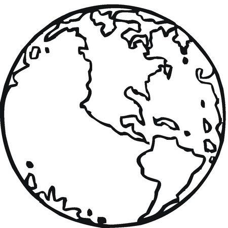 La bola del mundo para colorear - Imagui | Frases | Pinterest ...