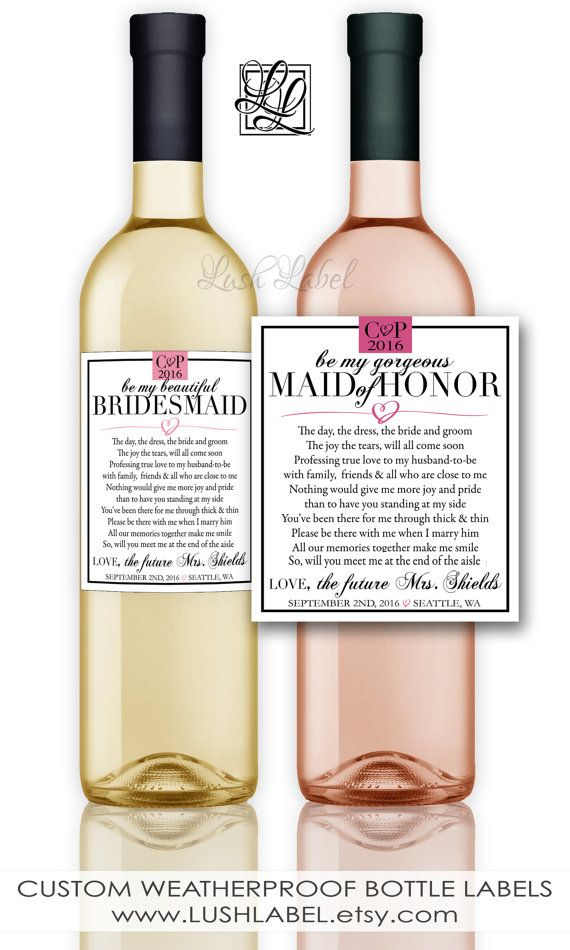 Bridesmaid Maid Of Honor Gift Will You Be My Proposal Ask Wine