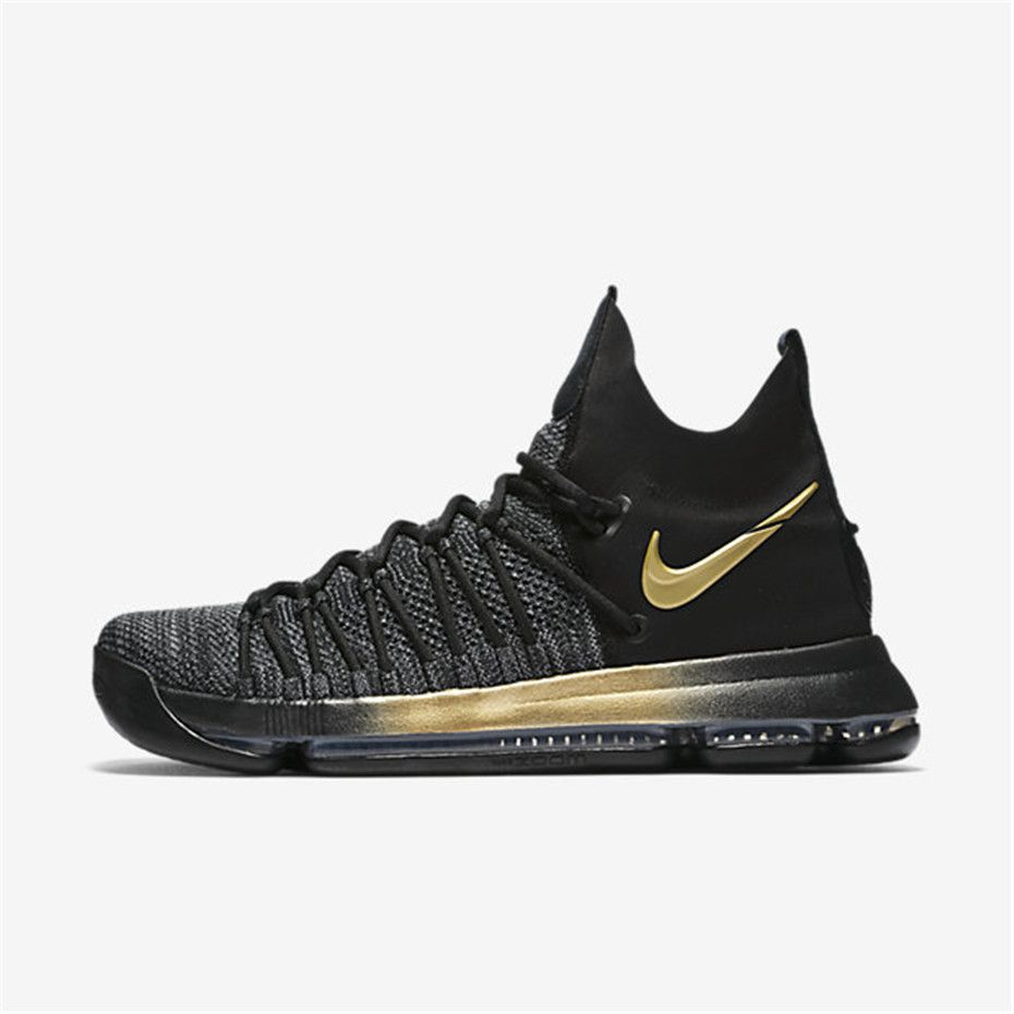 best loved 80b80 353b8 Nike Zoom KD 9 Elite (Black   Blue Fury   Metallic Gold   Tour Yellow)