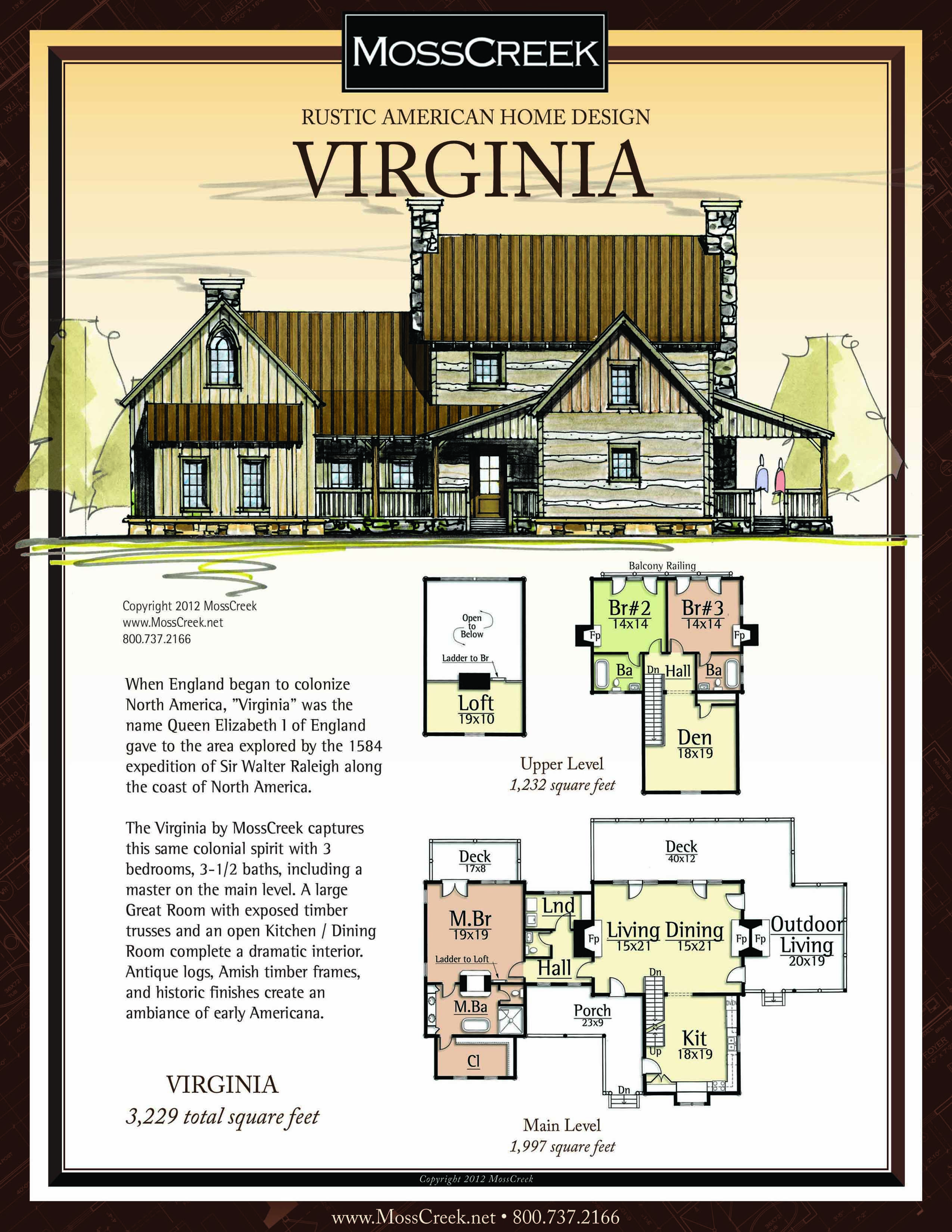 A Ready To Purchase 3229 Sf Home Plan From Mosscreek