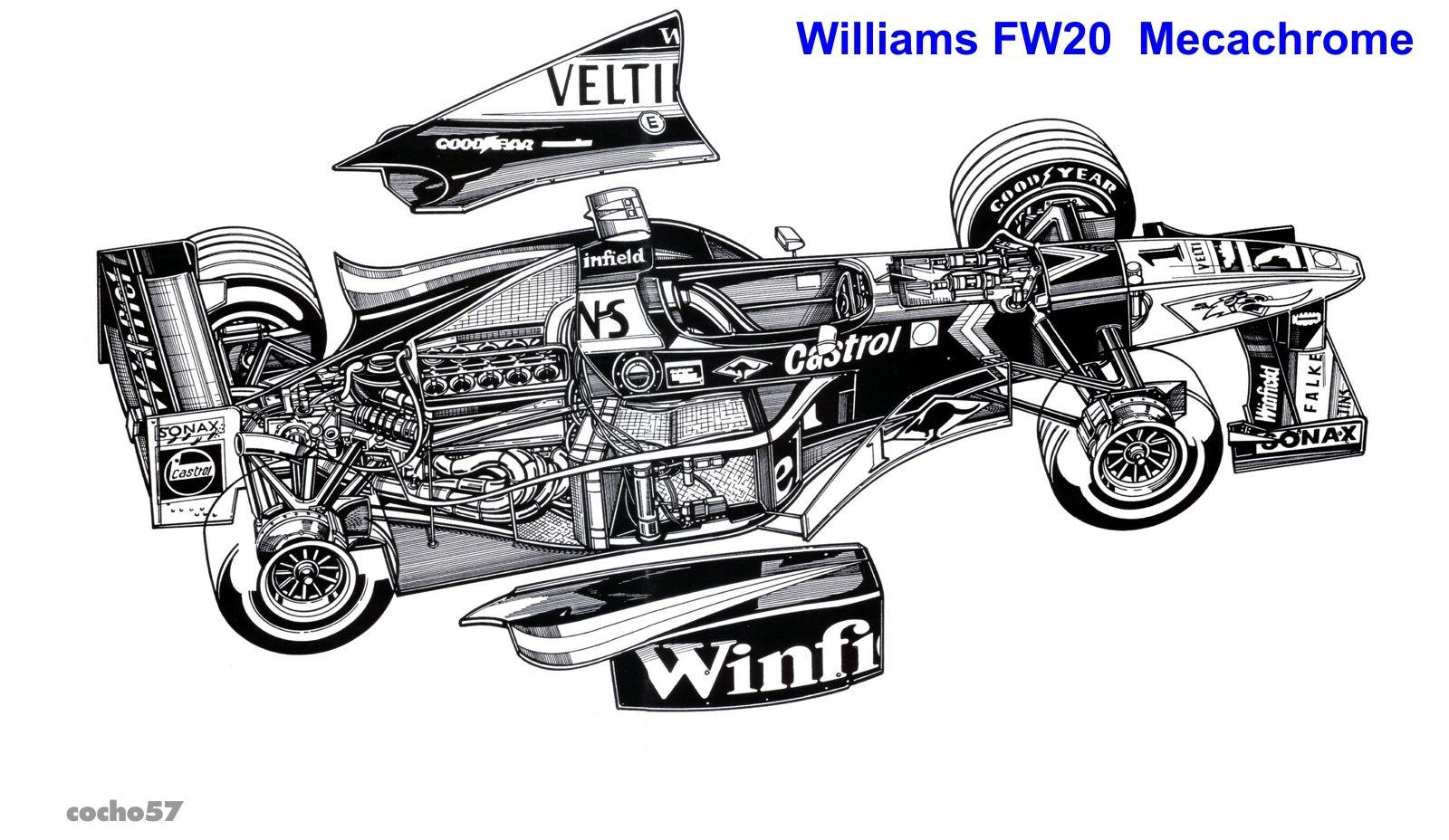 Williams Fw20 Mecachrome Diseno Patrick Head Y