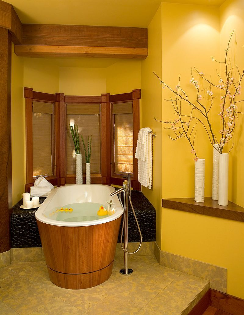 10 Gorgeous Bathrooms with the Warm Allure of Yellow  Yellow