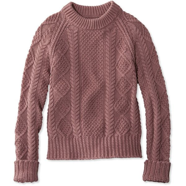 L.L.Bean Signature Signature Cotton Fisherman Sweater ($89 ...
