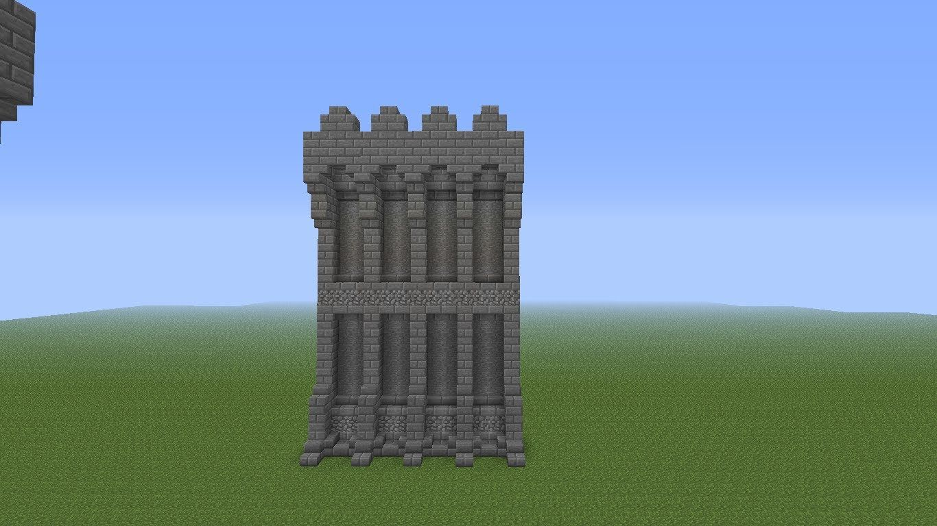 Minecraft Castles Minecraft Castle Wall Tutorial Youtube