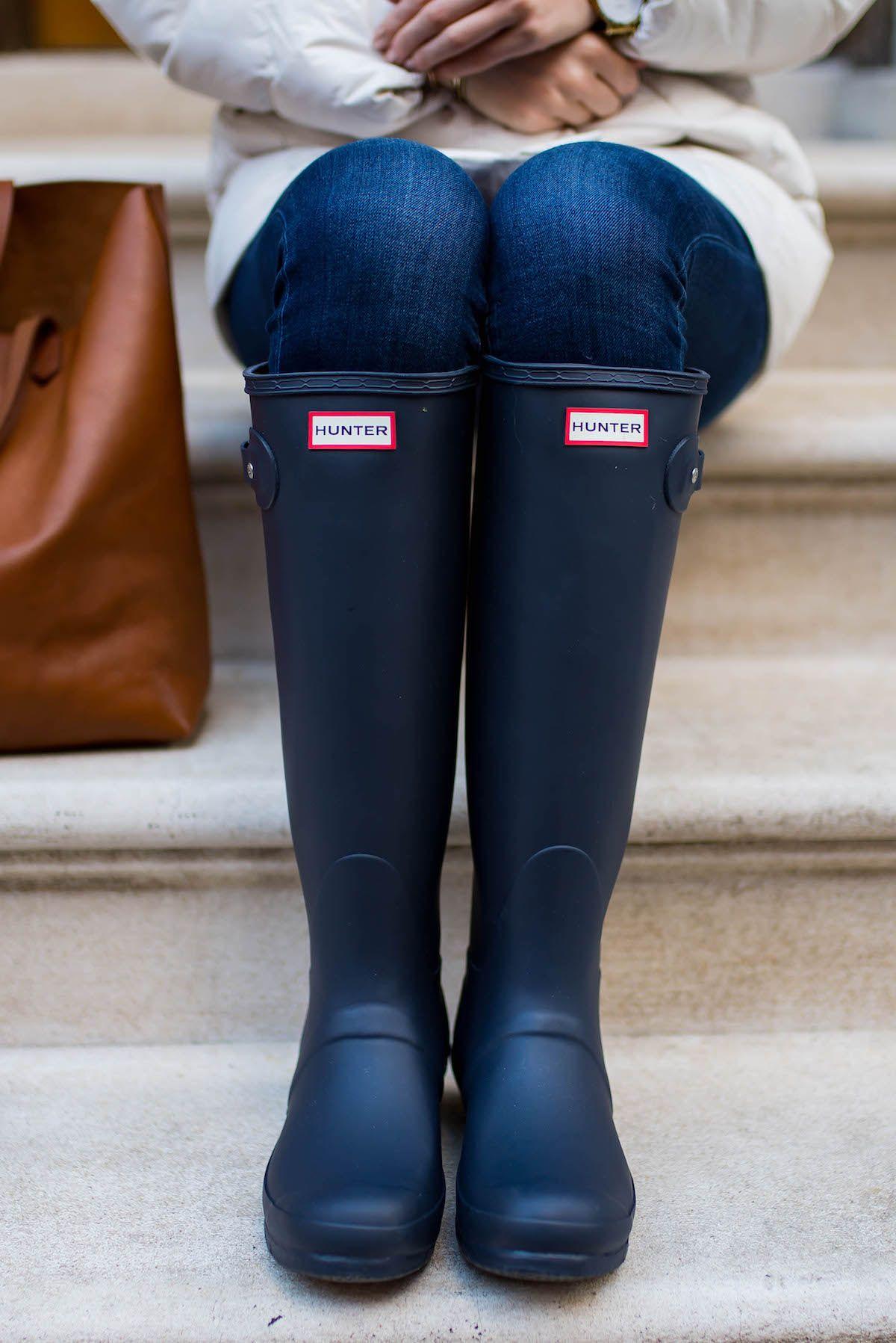 29dbce4443 Navy Hunter Rain Boots + Winter Coat Sale - Katie s Bliss