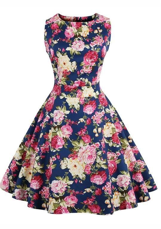 rockabilly klänning xxl