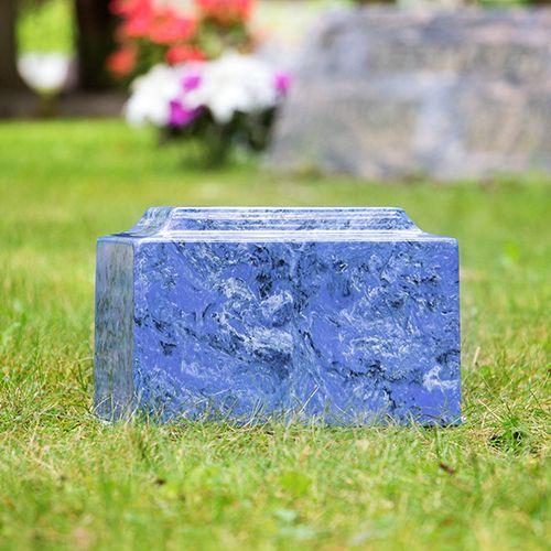 Mystic Blue Classic Cultured Marble Urn | Urn Vaults