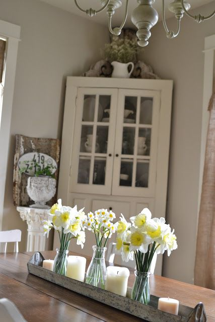 Faded Charm White Wednesday 145 Dining Room Centerpiece Dining Room Table Centerpieces Dining Room Table Decor