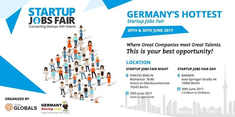 STARTUP JOBS FAIR http://www.eventflavour.com/event/club-globals ...
