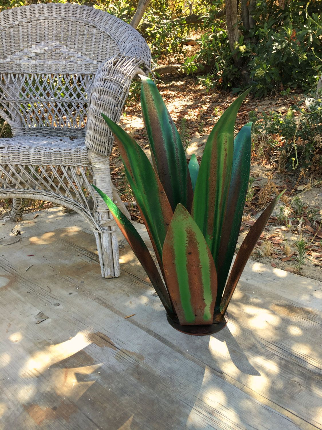 Rustic Green Fine Agave,Agave,Sculpture,Garden Art,Metal Cactus ...