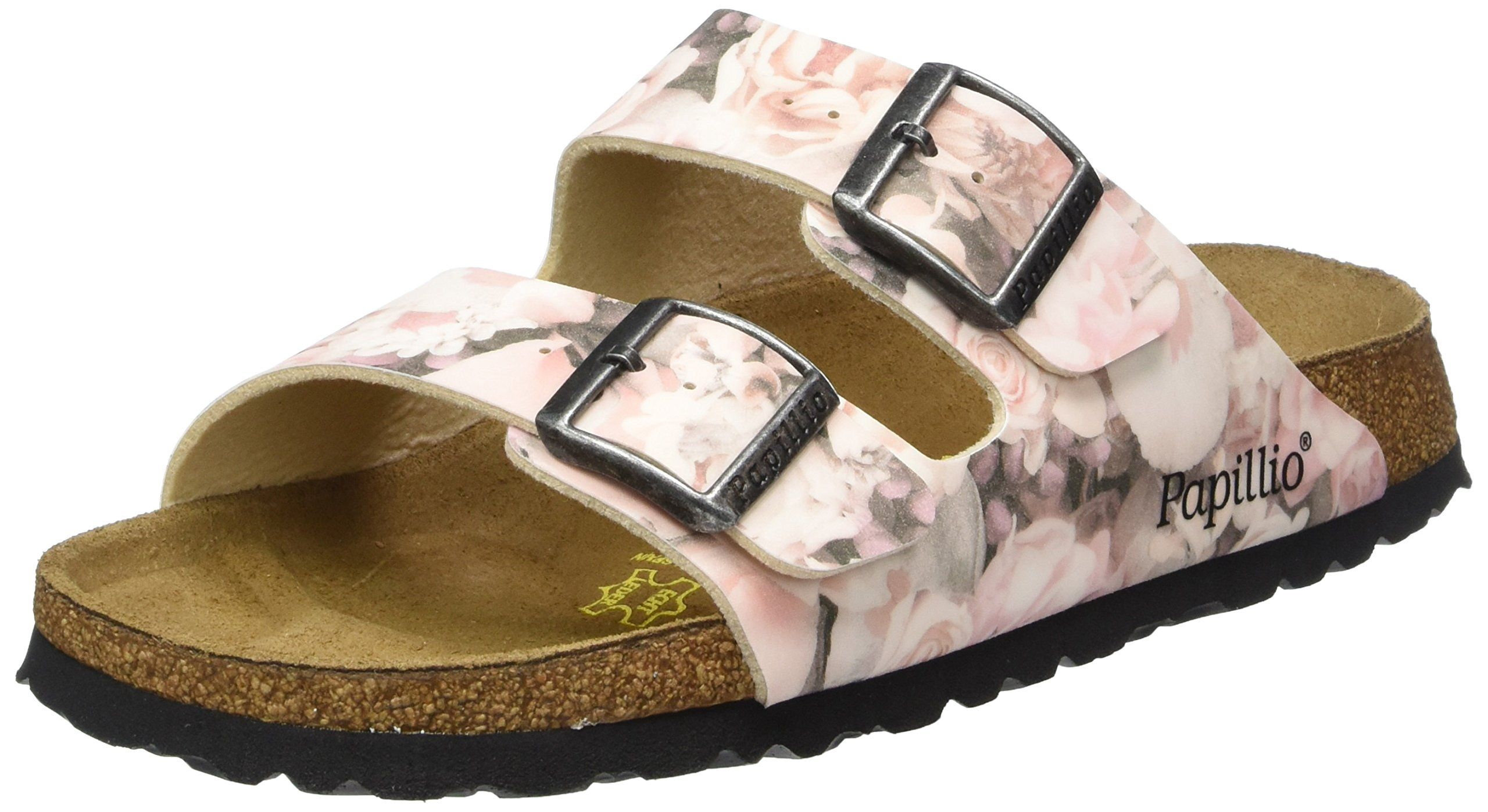 Birkenstock Arizona 364133 Narrow Fit Silky Rose Pink Womens Sandals 39 Eu Birko Flor Upper Cork Footbed Cork Footbed Sandals Birkenstock Footbed Sandals