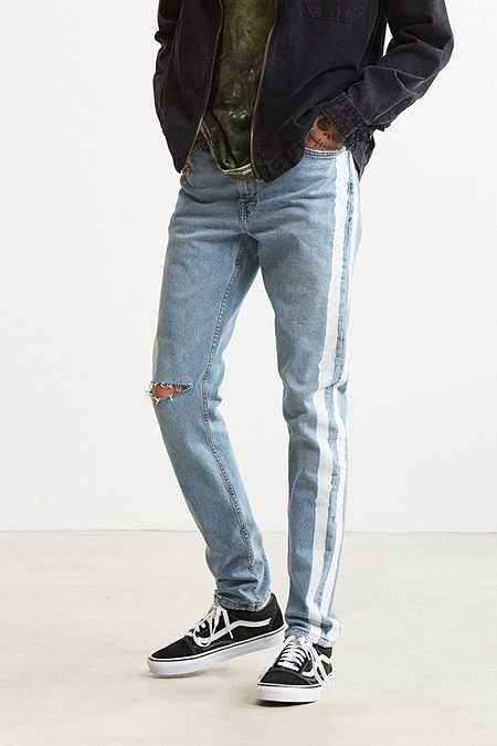 a502a73cbac 12 Useful Tips about Men s Fashion. BDG X Urban Renewal Side Stripe Painted  Skinny Jean