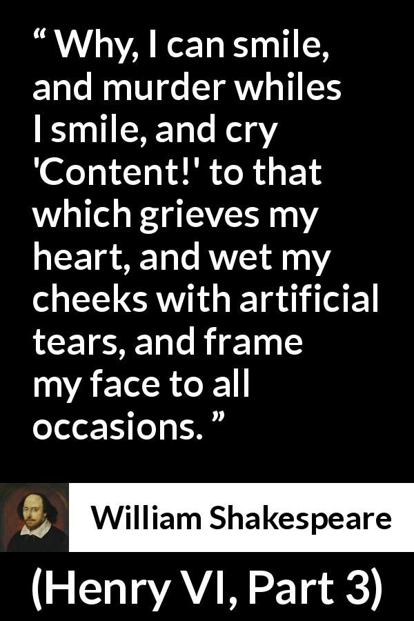 William Shakespeare Quote About Face From Henry Vi Part 3 1595