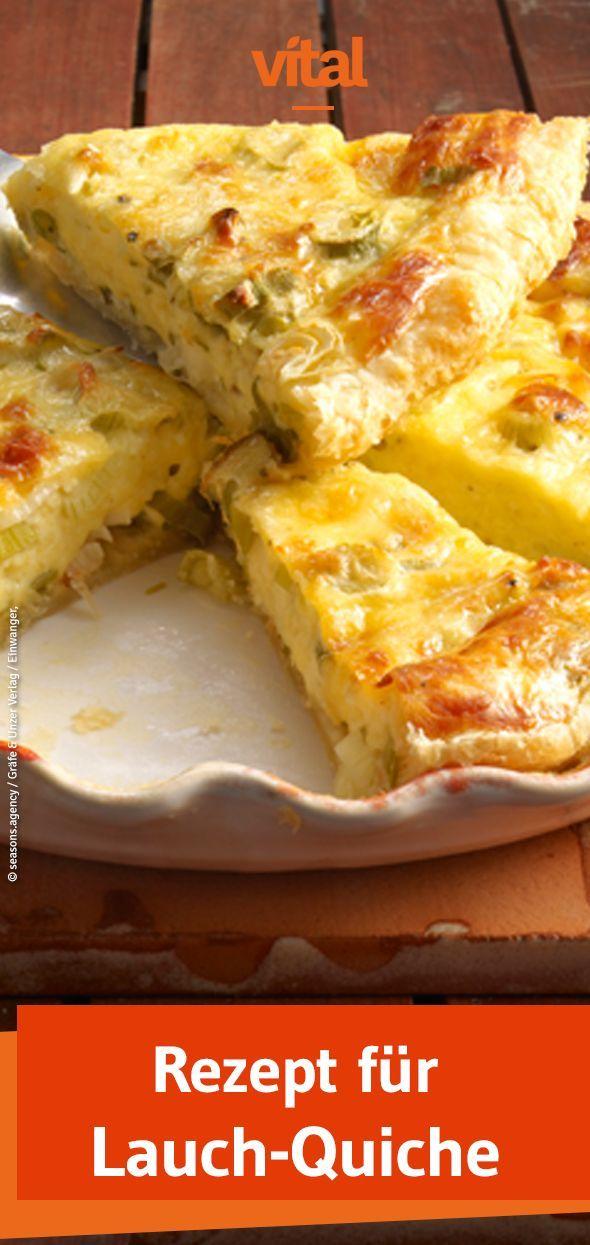 Herzhafte Käse-Lauch-Quiche