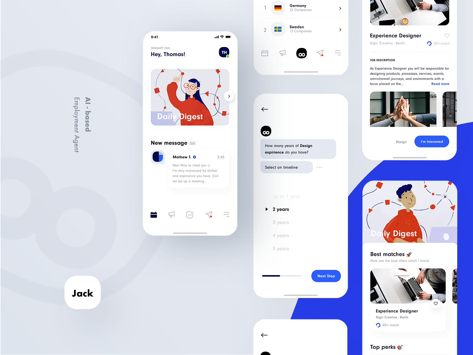 Ai Based Employment Agent Love It Too Tag Your Designer Friends Made By Dribbble Com Mac Yjak Uxflavors Ux Chatbot Design Banking App App Design