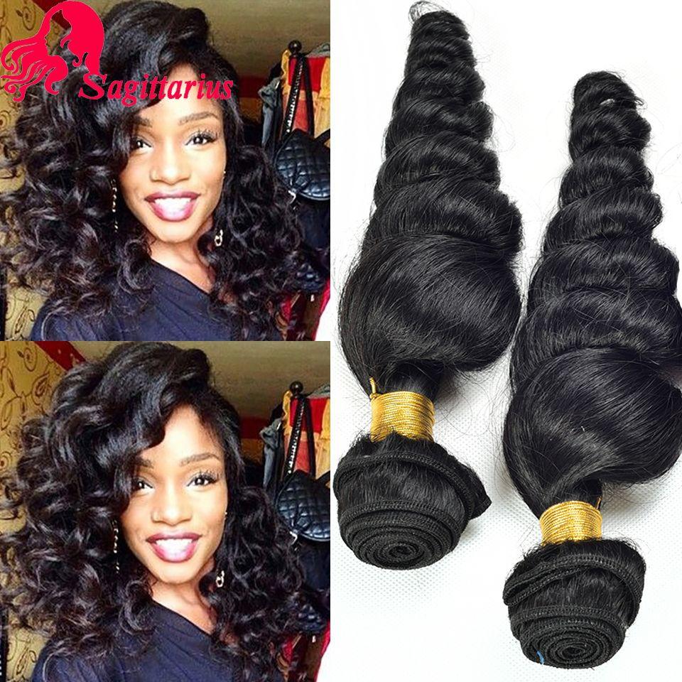 8A Peruaanse Virgin Haar Losse Golf 4 Bundels Onbewerkte Losse Krullend Weave Human Hair Extensions Peruaanse Losse Golf Haar Kan Dye