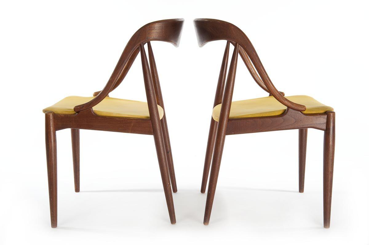 Ravishing yellow laminate wood cushion dining chairs with unique