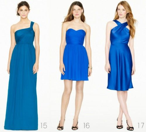 8273fb9cb0 Vestidos elegantes para dama de honor en color azul rey - Foto  J.Crew  Bridesmaid Collection