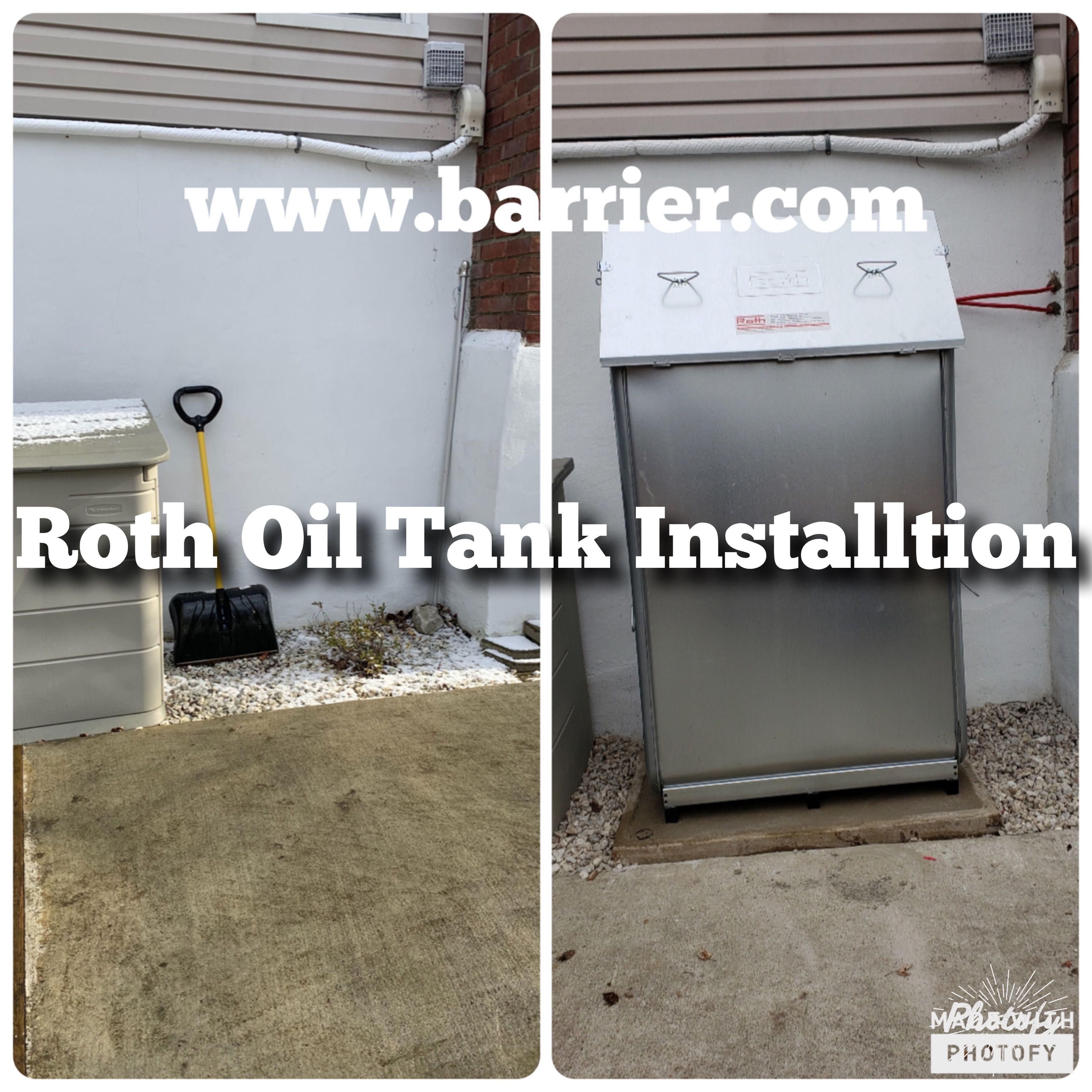 Barrier Contracting Installs Roth Above Ground Oil Tanks That Provide Dual Double Wall Tanks To Provide Secondary Containm In 2020 Wall Putnam County