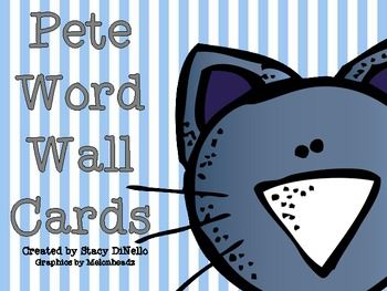 Pete Word Wall Cards