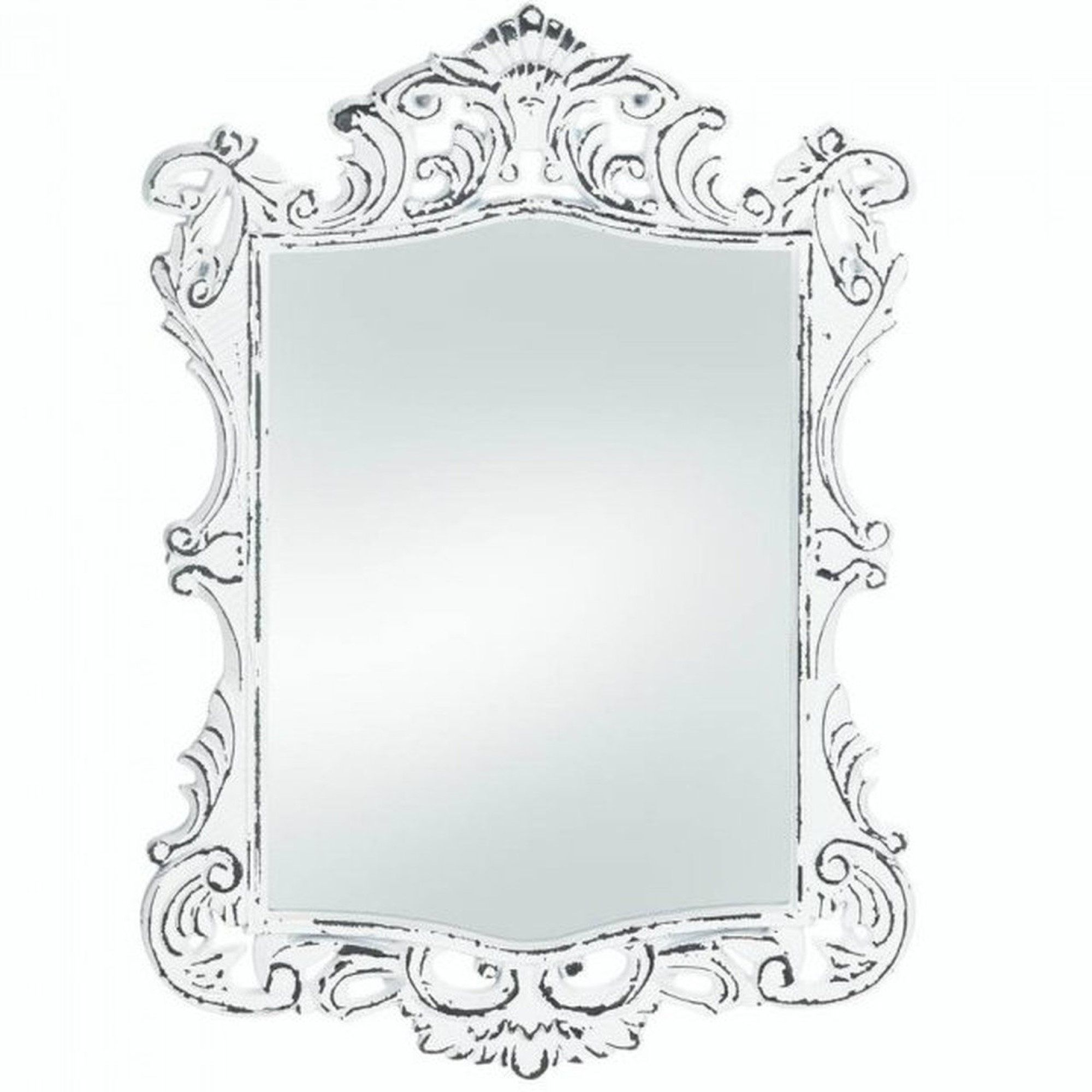 Royal Distressed White Wall Mirror By Vintrosigns On Etsy White Mirror Frame White Wall Mirrors Mirror Wall [ 2000 x 2000 Pixel ]
